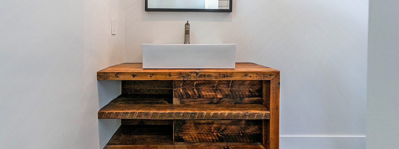 Reclaimed Wood Vanity – 2