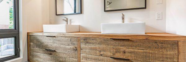 Reclaimed Wood Vanities – Custom Made By Stefand Woodwork Burlington