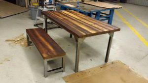 Custom Harvest Table Burlington by Stefand Woodwork