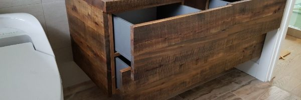 Reclaimed Wood Vanity – Handmade by Stefand