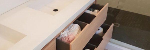Modern Vanity, Dundas, ON – Rift Sawn, White Oak