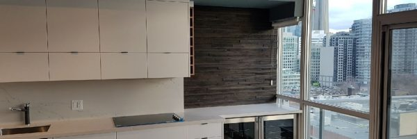 High Gloss Kitchen Mixed with Walnut, Toronto, ON
